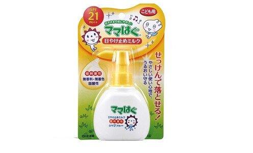 ROHTO Mamahagu milk SPF 21 PA++ — солнцезащитное молочко для детей