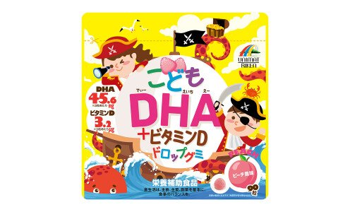 UNIMAT RIKEN Kids DHA & Vitamin D Drop Gummy — детский мармелад от 3 лет с омега-кислотами и витамином Д