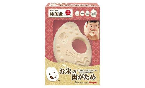 PEOPLE Rice Teething Plate — прорезыватель для зубов из натурального материала