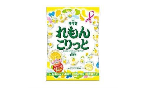 SAKUMA Lemon Koritto Candy — хрустящие лимонные конфеты