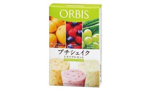 ORBIS Petit Shake Refreshing Taste — диетический коктейль с освежающим вкусом, ассорти
