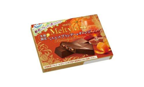 MEIJI Melty Kiss Brandy&Orange — шоколад с бренди и апельсиновой корочкой