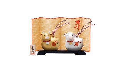 YAKUSHIGAMA Символ года 2021 — золотой и серебристый быки