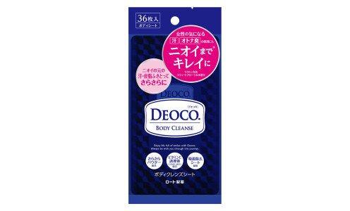 ROHTO Deoco Body Cleanse Sheets — очищающие влажные салфетки для тела