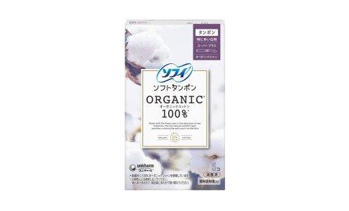 UNICHARM Sofy Soft Tampon Organic Cotton Super Plus — тампоны из органического хлопка, для очень обильных выделений