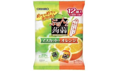 ORIHIRO Purunto Konnyaku Jelly — порционное желе из конняку, ассорти