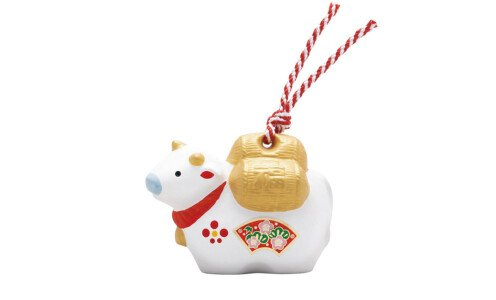YAKUSHIGAMA Символ года 2021 — белый бык с мешком удачи