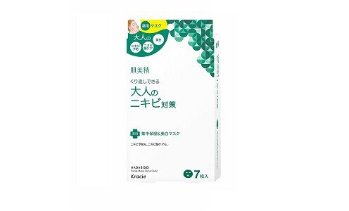 KRACIE Hadabisei Fasial Mask Acne Care — маска для лица, 1 шт