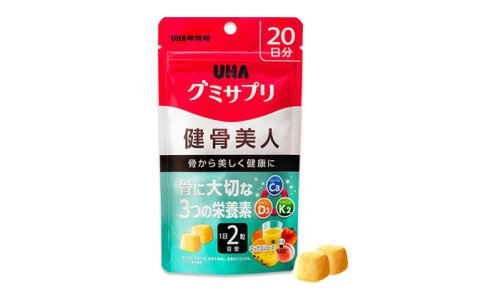 UHA Gummy Supple Kenkotsu Bijin — витаминный комплекс для здоровых костей
