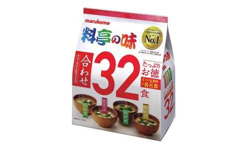 MARUKOME Katei no Aji Misoshiru — набор мисо-супов, супер размер 32 порции