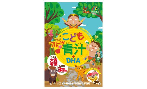 UNIMAT RIKEN Kids Fruit Aojiru + DHA — натуральный напиток аодзиру с омега-кислотами и лактобактериями