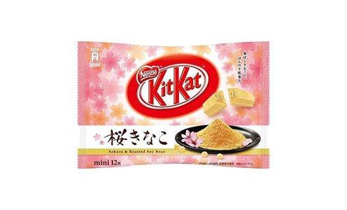 NESTLE Kit Kat Sakura&Roasted Kinako — вафли со вкусом сакуры и кинако