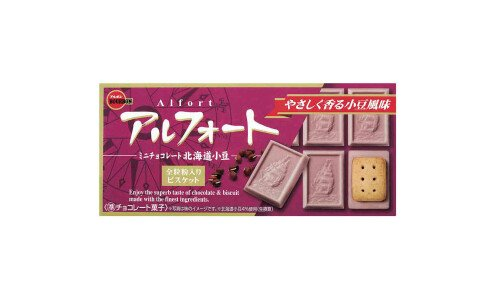 BOURBON Alfort Hokkaido Azuki — шоколад с бобами адзуки с печеньем