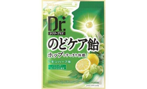 KANRO Doctor — леденцы для горла с экстрактом хмеля (травы и лимон)