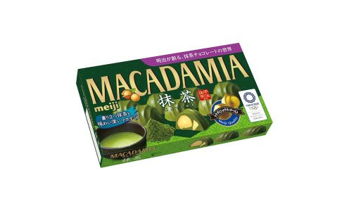 MEIJI Macadamia Chocolate Matcha — орехи макадамия в матча шоколаде
