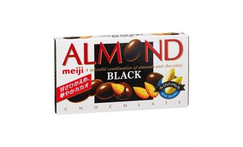 MEIJI Almond Chocolate Cacao  — миндаль в горьком шоколаде
