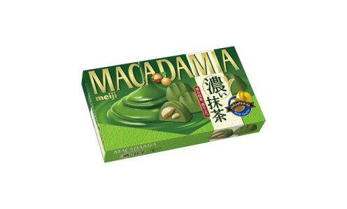 MEIJI Macadamia Koi Matcha — орехи макадамия в шоколаде с зеленым чаем