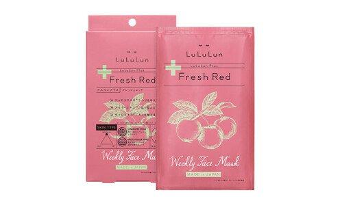 LULULUN Plus Fresh Red — маски для лица с витаминами, 5 шт.