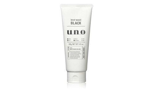 SHISEIDO UNO Whip Wash (Black) — пенка для умывания с древесным углем, для жирной кожи